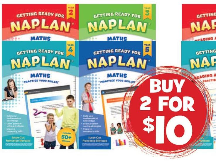 Getting Ready For Naplan – Math Years 2,3,4 Or 5
