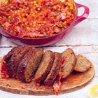 Een heerlijk recept: Jamie Oliver: in de pan gebakken gehaktbrood