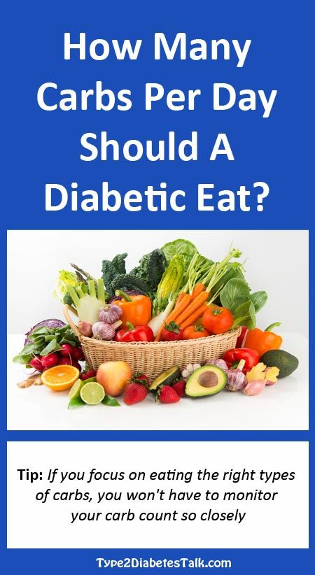How many carbs per day for a diabetic