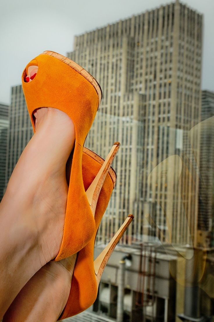 Giuseppe Zanotti,  if I were to wear anything orange, it would have to be these.....: Fashion Shoes, Orange Heels, Giuseppe Zanotti, Color, The View, Girls Fashion, Hot Heels, High Heels, Girls Shoes