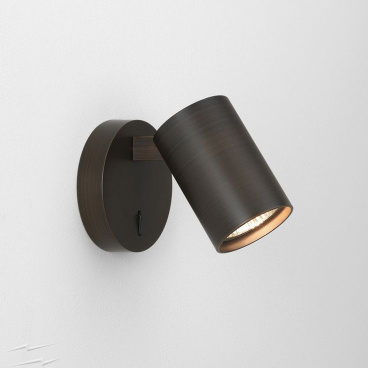 AX7939 - Ascoli Single Switched Wall Spotlight in Painted Bronze, IP20 Adjustable Spot using 6W GU10 LED