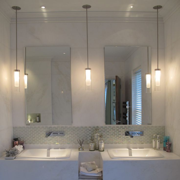 Mini Pendant Lights For Bathroom: Ceiling mounted ribbed bathroom light pendant ideal for either side of a  mirror in a bathroom. One of a number of bathroom light fittings from John  Cullen ...,Lighting