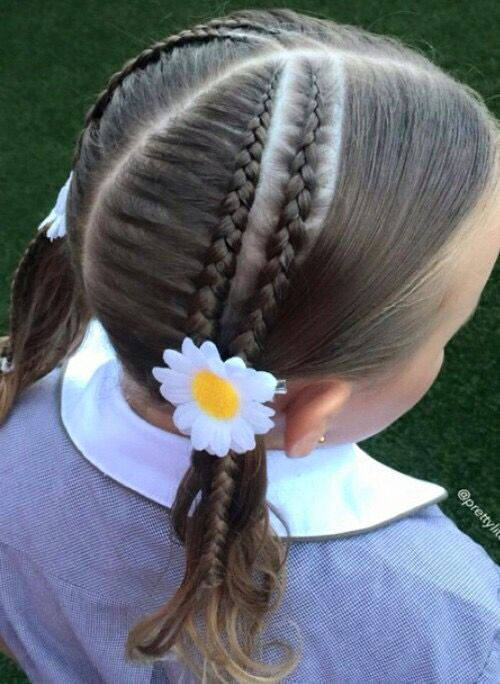 Nicely done Braided ponytails