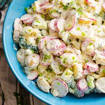 Creamy healthy potato salad ispossible with Greek yogurt and with a help of my Ukrainian heritage. I combined my childhood favourite egg, radish and cucumber salad with traditional North American potato salad, and the result is lighter and healthier potato salad without sacrificing the flavour. I tested recipe three times and me and my 10 year old (he is becoming one excellent cook with a dream of owning a food truck one day) agreed in unison that radishes and cucumbers add a delightful…