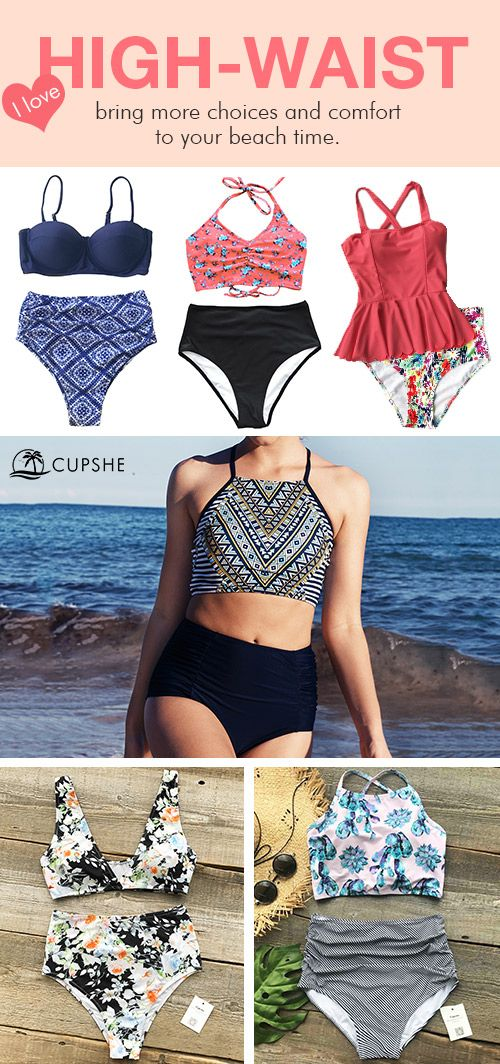 Feel cozy to move around, ladies! Choose Cupshe High-waisted swimsuits, and bring more choices and comfort to your beach time. Do fall in love with these amazing bikinis and spend a joyful beach time there!