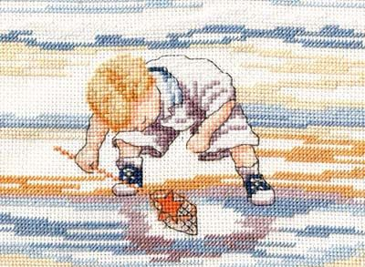 Starfish Finder - All Our Yesterdays Cross Stitch Kit By Faye Whittaker