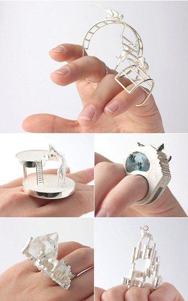 The Carrotbox modern jewellery blog and shop — obsessed with rings-Ramiko (Hiroko Kitabayashi).