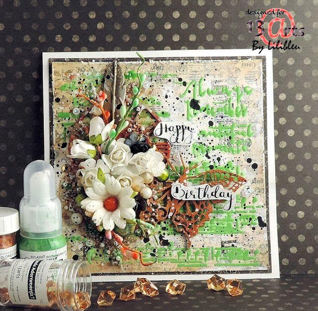 """13arts: Card """"Happy Birthay"""" - By Lilibleu"""
