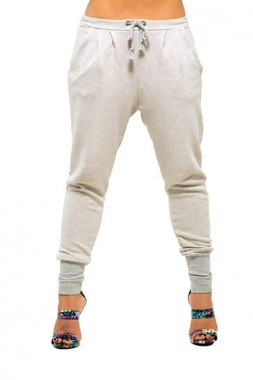 Juno French Terry Draw String Drop Crotch Pants