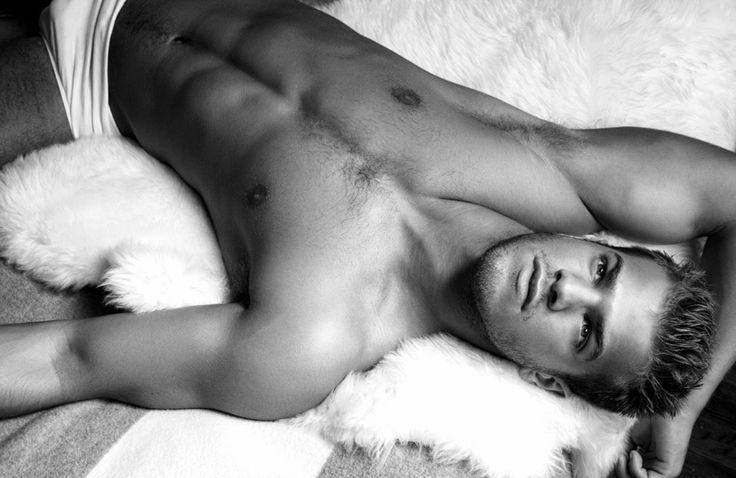 Evan Wadle - Man on Sheepskin Blanket