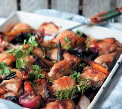 Chicken and Root Vegetable Tray Bake #Chicken #Recipe #SouthAfrica