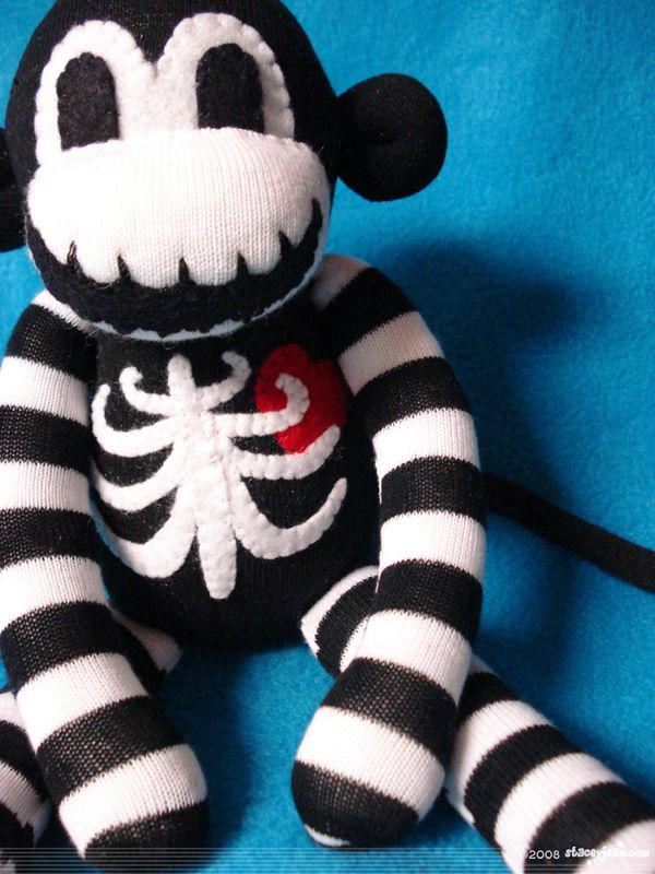 Macabre - The Original Skeleton Sock Monkey by Stacey Jean, via Behance