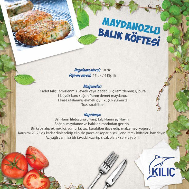 Maydanozlu Balık Köftesi #KilicDeniz #yemek #tarif