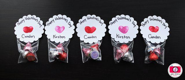 Thumbprint Valentines: Valentines Ideas, Gifts Ideas, Valentines Day Parties, Kiss Valentines, Valentines Gifts, Hershey Kiss, Valentines Day Treats, Valentines Treats, Valentines Day Gifts