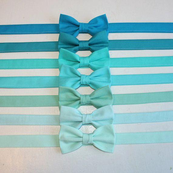 Turquoise Mint Aqua Seafoam Teal Bow Tie by TheLittlestGentleman