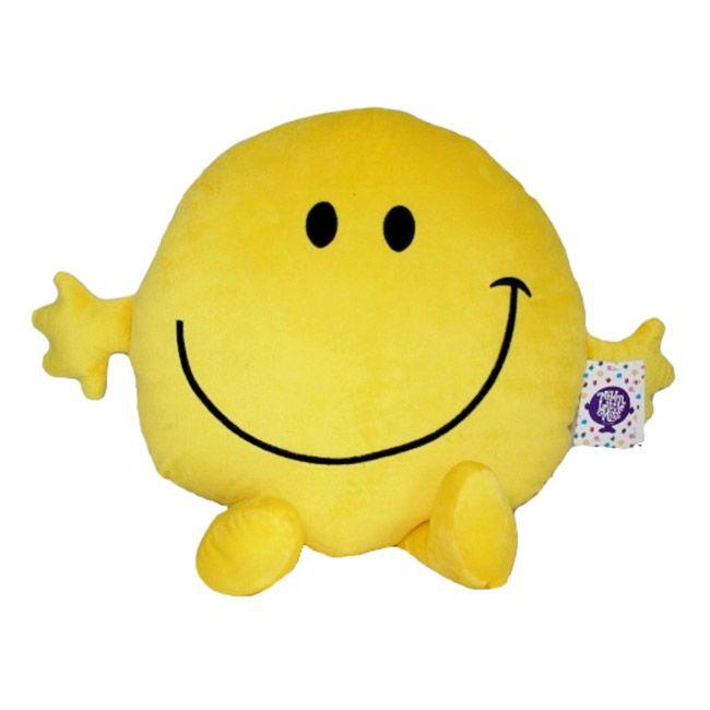 Grande peluche Monsieur Heureux sous licence Monsieur Madame - Une grosse peluche toute douce Mr Happy pour petits et grands - Peluche migonne coussin de grande taille.  http://www.lamaisontendance.fr/catalogue/grande-peluche-monsieur-heureux-happy/ #peluche #coussin #monsieurmadame #mrhappy #happy #décoration #maison