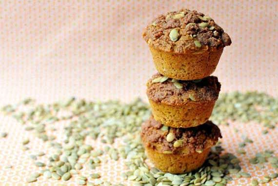 Clean Eating Gluten-Free Pumpkin Streusel Muffins - Made with brown ...