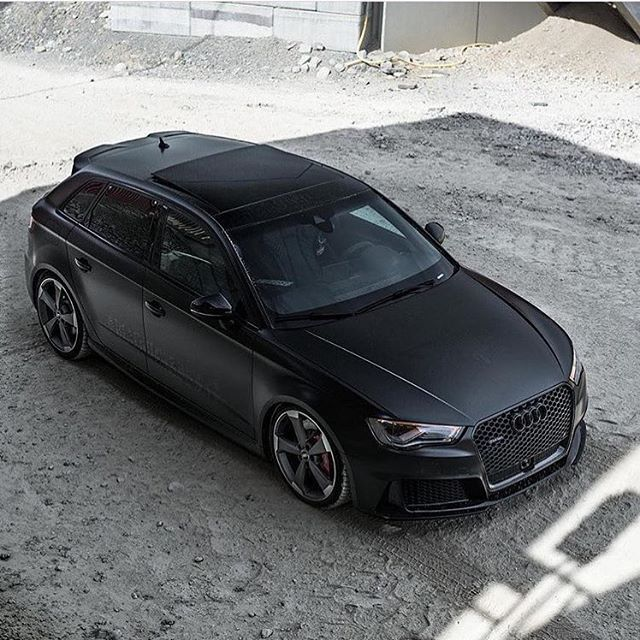 A Spectacular Shine On This Matte Black Audi Rs3 Sportback 5