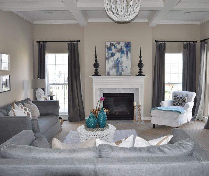 Best 25 neutral family rooms ideas on pinterest for Grey white turquoise living room