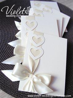 """Coquette"" Wedding Invitations, Violet Handmade Wedding Invitations"