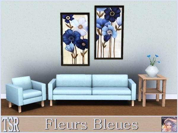 Fleurs bleues two paintings by the artist maja one file two paintings tsraa found in tsr category paintings