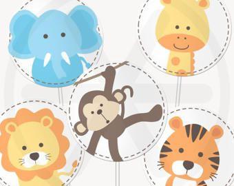Safari Birthday Package Printable Party Decor Cute DIY