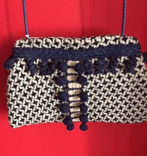 Borse a tracolla - Pom Pom bag, wool - un prodotto unico di LesCles su DaWanda