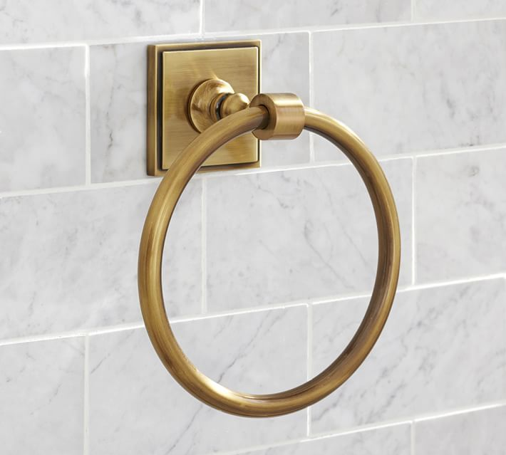 Pearson Towel Ring, Brass finish