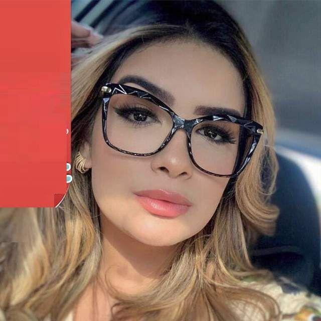 Oculos Quadrados Mulher Tr90 Moldura De Cristal Oculos Primavera