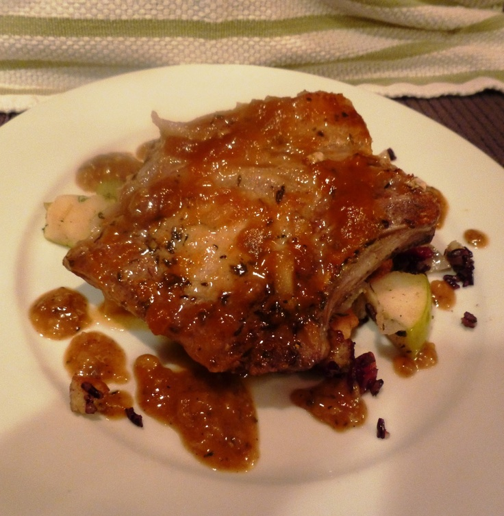 The Pastured Heirloom Hog Thyme-Rubbed Pork Chops with Cider Pan Jus ...