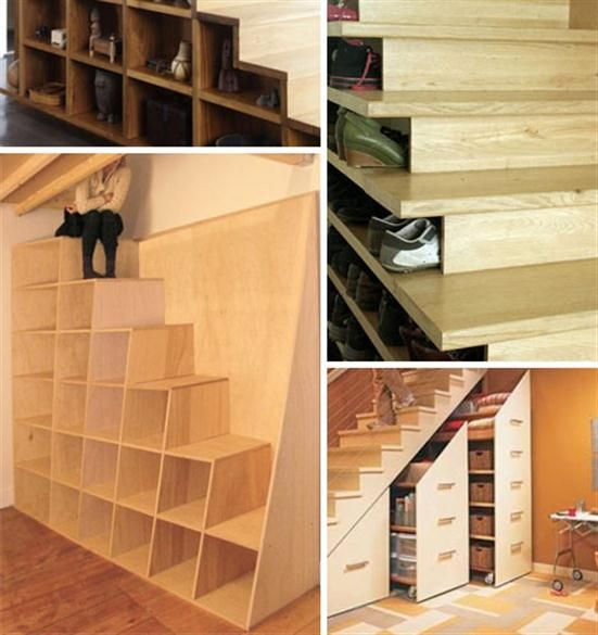 under stairs storage combination design