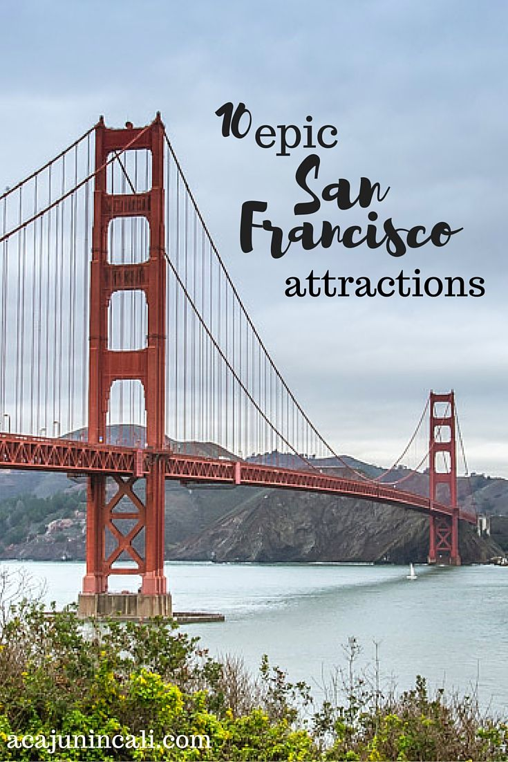 San Francisco Attractions | Things to Do in San Francisco | What to See in San Francisco | What to Do in San Francisco | Top San Francisco Attractions | Best San Francisco Attractions | San Francisco Tourism | Visiting San Francisco | Visit California | California Travel  via @acajunincali
