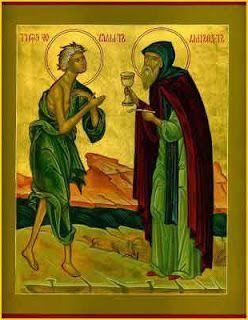 Pictor de Icoane: Sfinta Maria Egipteanca - despre convertirea iubir...