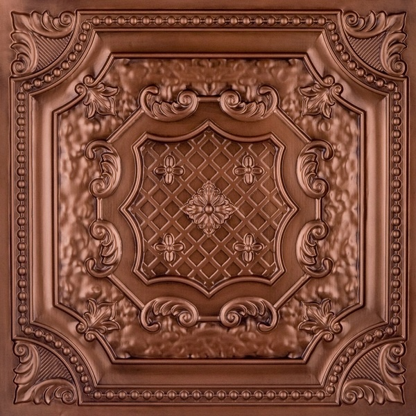 victorian faux copper plastic ceiling tiles