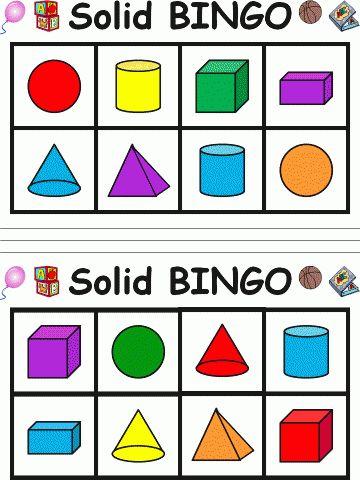 Solid Shape Bingo | Edworld Exchange | Where Educators Buy and Sell Resources