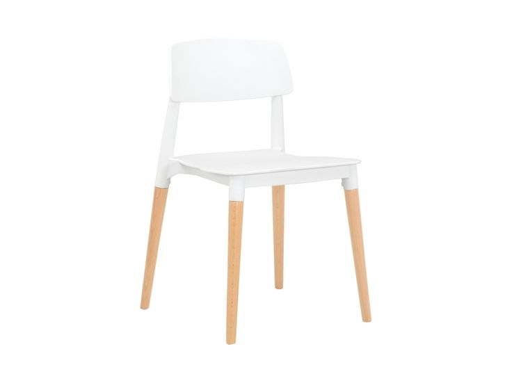FIKA Stol Hvid/Træben i gruppen Indendørs / Stole / Spisestole hos Furniturebox (100-70-86471)