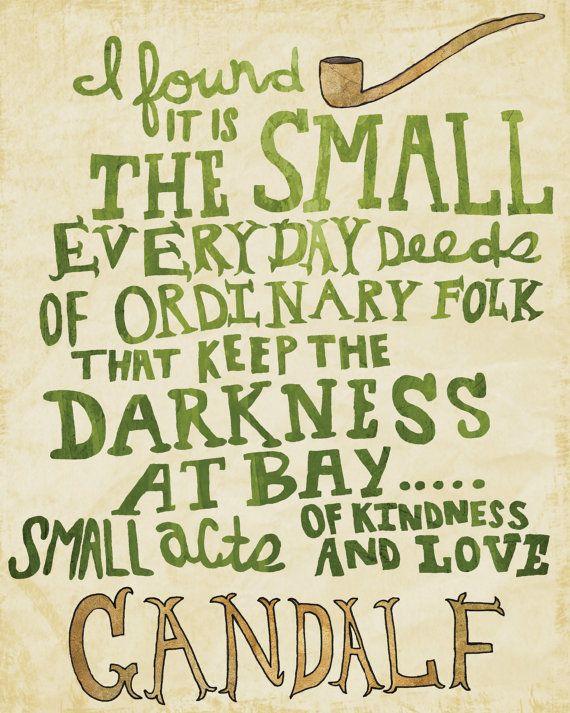 Great Wisdom From Gandalf The Grey #tolkien