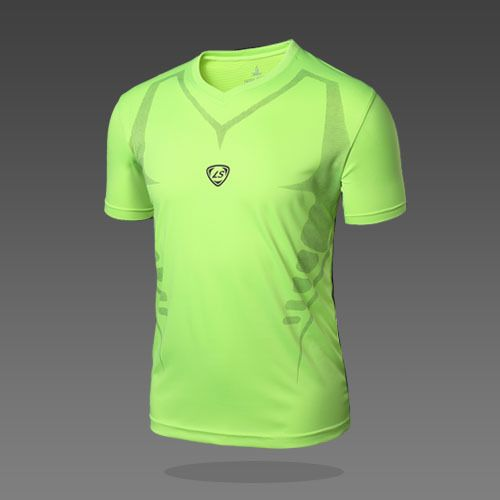 High Quality Men Jersey T Shirt Sports Quick Dry Fitness Compression Drying T shirt Running Training T Shirts Camisa Masculina #Affiliate