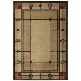 Mohawk Home Leaf Point Brown Rectangular Indoor Woven Area Rug (Common: 8 x 10; Actual: 94-in W x 129-in L x 0.5-ft Dia)