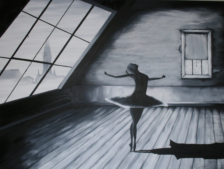 My oil painting, Solo Ballerina