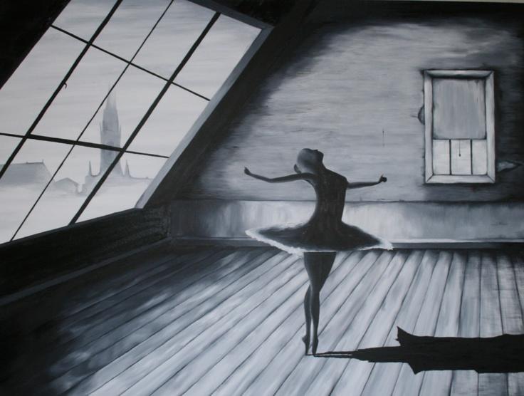 My oil painting, Solo Ballerina