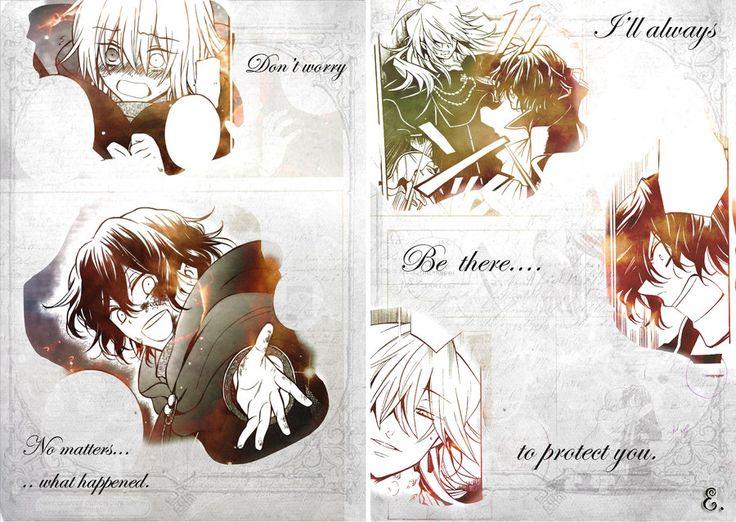 Manga: Pandora Hearts. Vincent Nightray and Gilbert Nightray.