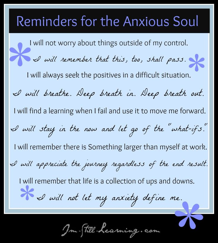 Reminders for ANxious Soul