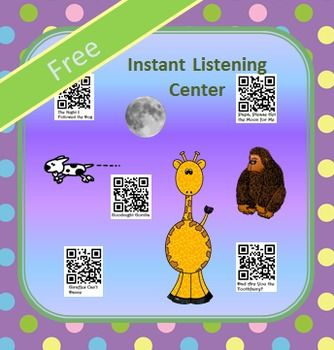 This instant listening center is ready for your students. They simply scan the codes with an i-pod, i-pad, or tablet. The stories will be read to them. Kids love QR codes. You will love how easy this is for you. Just print it off and put it in your listening center.