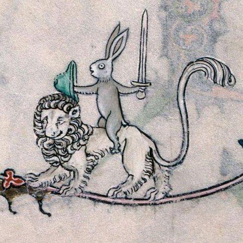 Weird Medieval Marginalia Part III peashooter85: Because sometimes Medieval monks got bored…