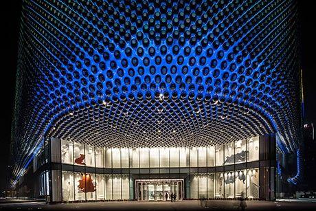 Una pelle di sfere: Hanjie Wanda Square, Cina.   WOW! (Ways Of Working) webmagazine