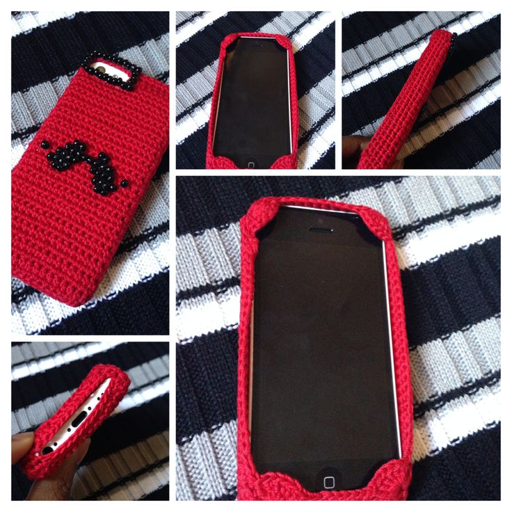 Loving my new iPhone 5c crochet phone case. I've been wanting one like this for a while, but all crochet phone cases usually had your phone slide into it, covering your whole phone.