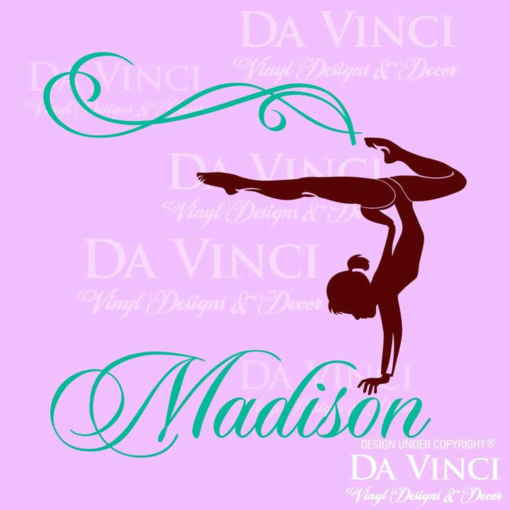 Gymnast Gymnastics Personalized Custom Name by DaVinciVinylDesigns  22 99 76 best bedroom images on Pinterest