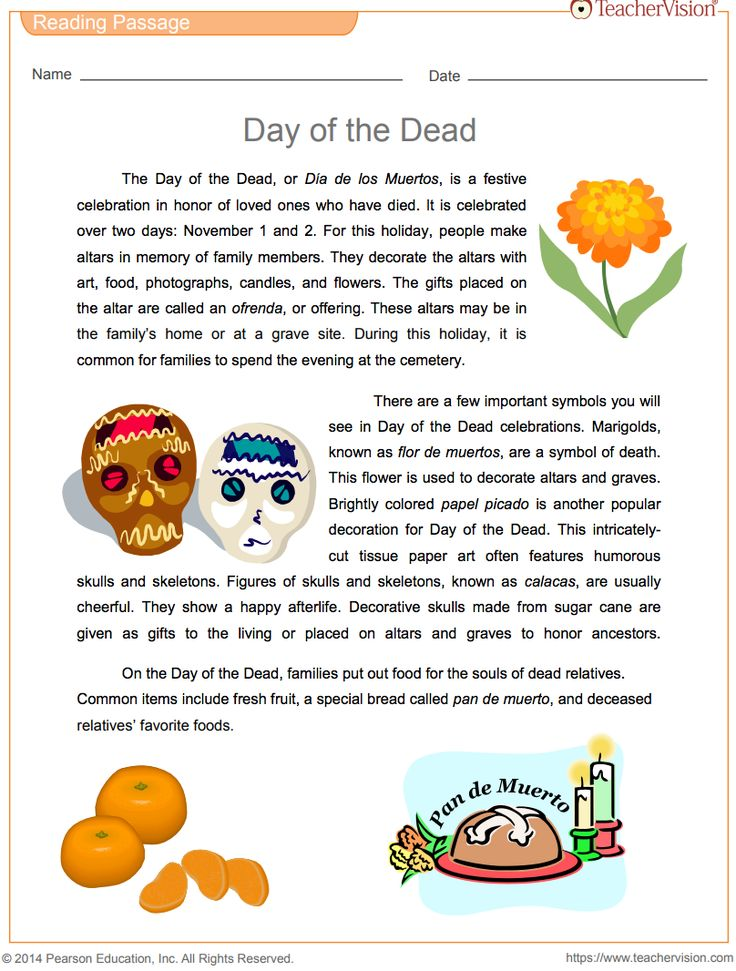 Share a reading passage about Día de los Muertos with your students. After reading about Day of the Dead celebrations, students will use a dictionary to define vocabulary words from the passage. As part of the vocabulary review, they will match Spanish words and phrases with English descriptions. Grades 6-10.