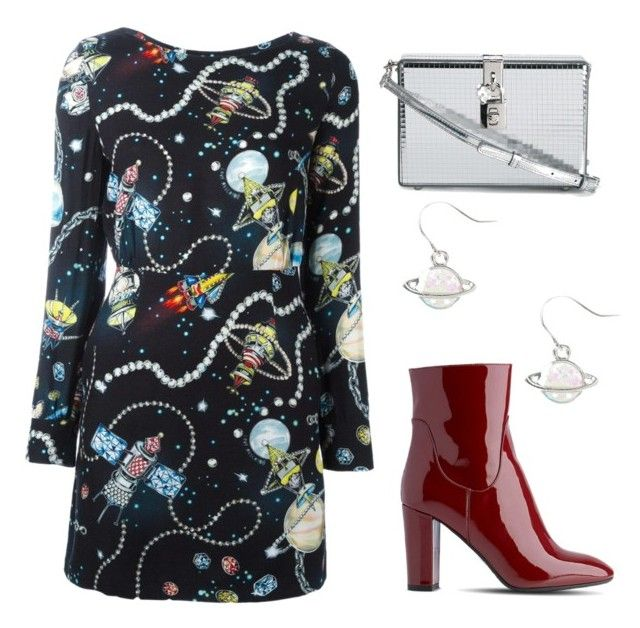 """cosmic love"" by lula-kruta ❤ liked on Polyvore featuring Love Moschino, L.K.Bennett and Dolce&Gabbana"